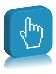 """3D Square """"CLICK HERE"""" Button (pointer - mouse - vector)"""