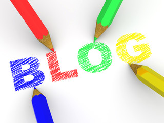 pencils depicting text blog