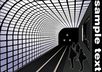 abstract railway station vector