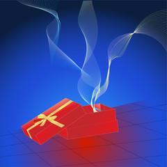 Festive Gift Box Opening - Vector Design