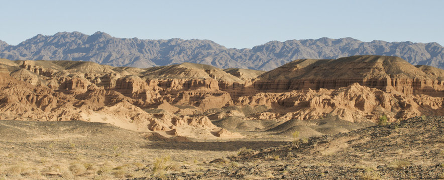 Nemegt rock formation at the Gobi
