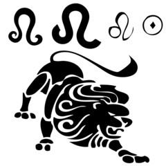 vector illustration zodiac sign vector (leo)