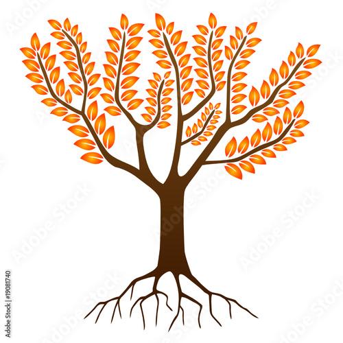 Arbre en automne autumn tree saisons dessin vecteur fichier vectoriel libre de droits - Arbre automne dessin ...