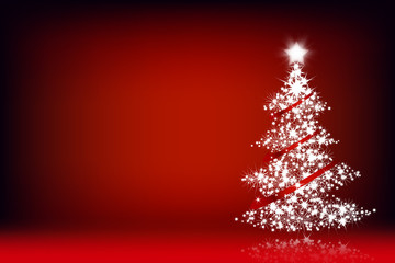 Holiday  background with Christmas tree