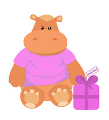 Nice toy hippo with fancy box