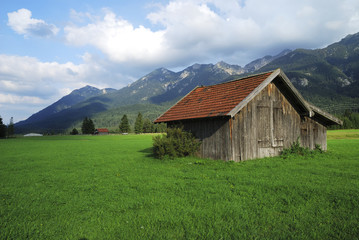 Foto op Plexiglas Heuvel Bavarian hut