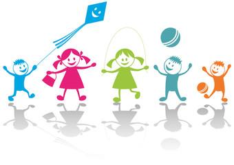 Cheerful playing children