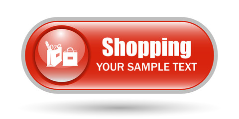 Shopping Bags Sign Icon with Copyspace