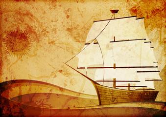 Old sailer ship