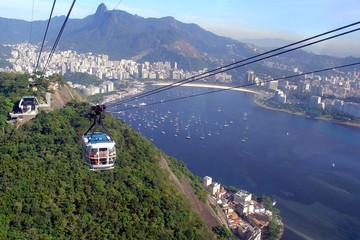 Sugar Leaf cable car in Rio de Janeiro, Brazil