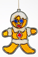 Gingerbread person christmas ornament