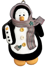 Penguin with scarf christmas ornament