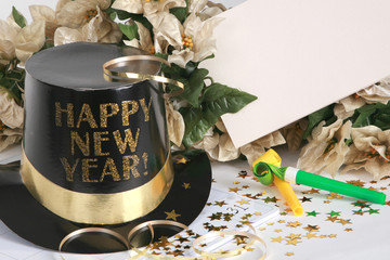 Happy New Year with copy space