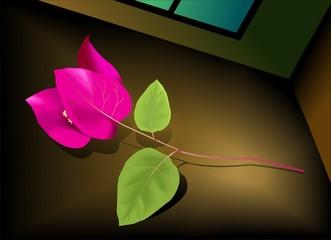Digital   painting  of flower