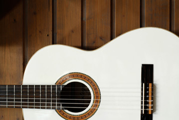 weisse Countrygitarre