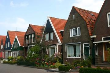 Traditional houses in the Netherlands