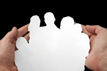 scherenschnitt großfamilie