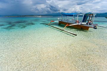 Aluminium Prints Indonesia Beautiful sea at Gili Meno, Indonesia.