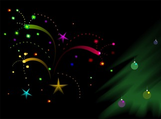 Illustration of holidays picture with colour background