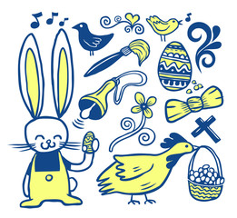 Easter doodles collection