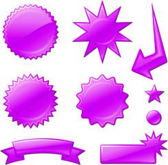 purple star burst designs