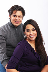 Young hispanic couple portrait