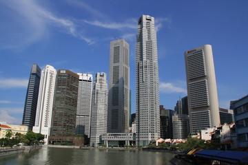 Foto op Plexiglas Singapore Skyline Singapur