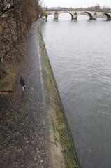Walking along River Seine