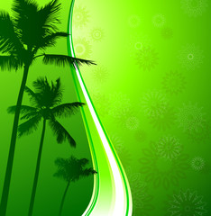 Green Tropical background