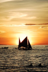 sail and sunset
