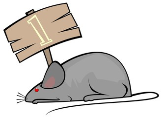Illustration of a rat and a board