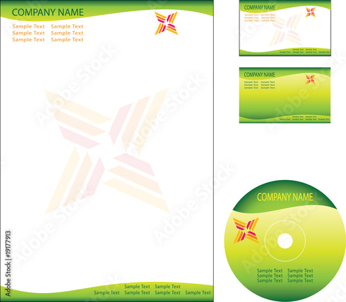 Letterhead business card cd dvd template design stock image and letterhead business card cd dvd template design spiritdancerdesigns Images