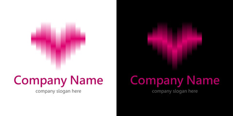 Abstract gradient heart logo