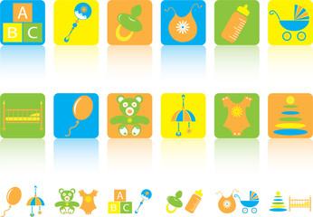 Set of children's icons