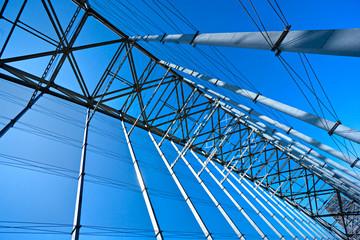 Architectural details of a bridge.