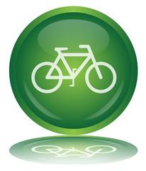 Bouton Vélo (Bicyclette Transport Vert Panneau Cyclisme Vecteur)