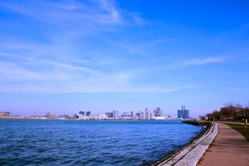 Riverside of Detroit river