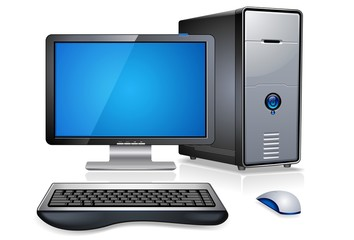 Realistic Computer Workstation