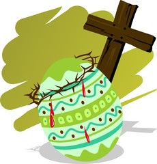 Illustration of easter picture in colour background