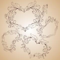 vintage heart-shapes