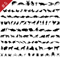 animals silhouettes set