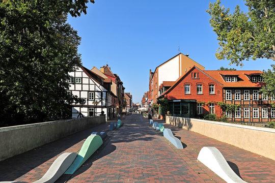 Die Fußgängerzone in Neustadt am Rübenberge