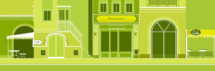 outdoor café and restaurant