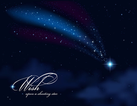 wish upon a shooting star - background or greeting card