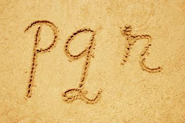 set of sand fonts