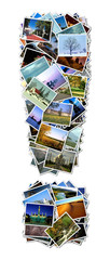 All over the world photo font ! with 210 original pictures