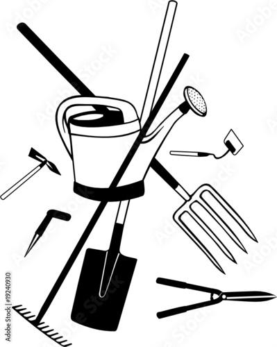 outils de jardinage fichier vectoriel libre de droits. Black Bedroom Furniture Sets. Home Design Ideas
