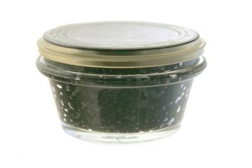 Beluga caviar isolated on white background