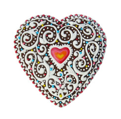 Pattern heart gingerbread