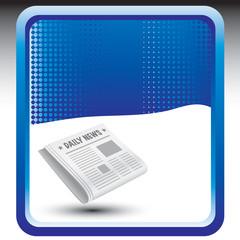 newspaper blue checkered background